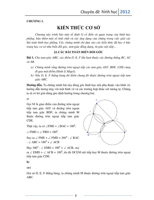 Sách hình học Chuyên toán