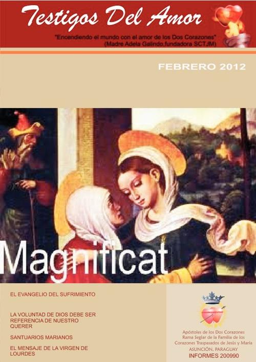 Revista TESTIGOS DEL AMOR - Febrero 2012