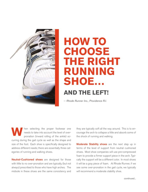 How To Choose The Right Running Shoe