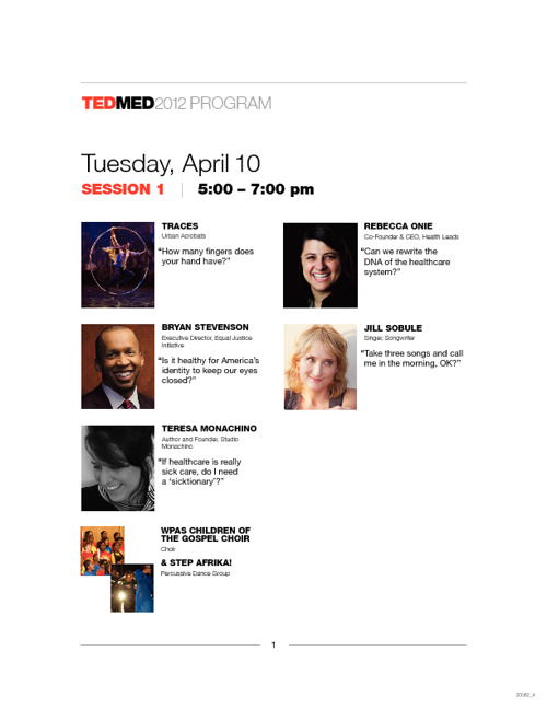 TEDMED2012 Speakers