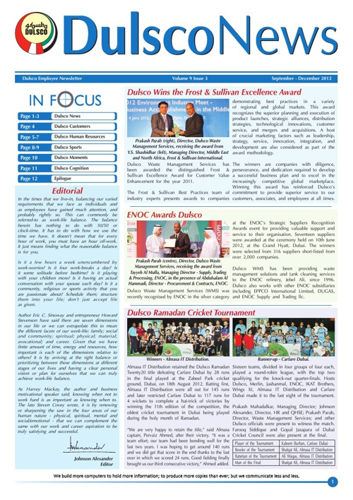 Dulsco Newsletter - Vol 9 Issue 3