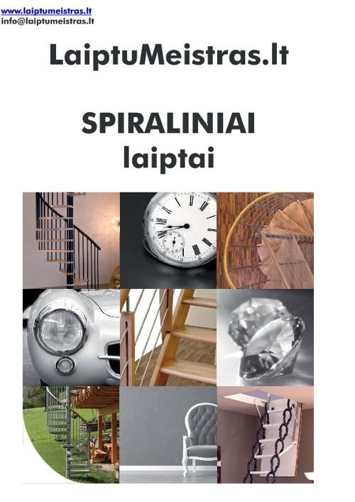 LaiptuMeistras Spiraliniai laiptai
