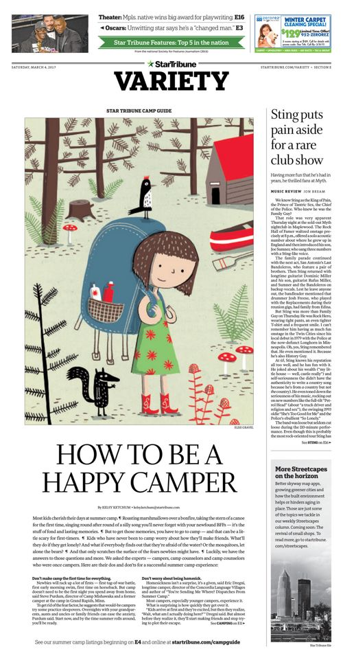 Star Tribune Camp Guide - March 2017
