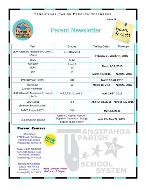 Tangipahoa Parish Parent Resources V14