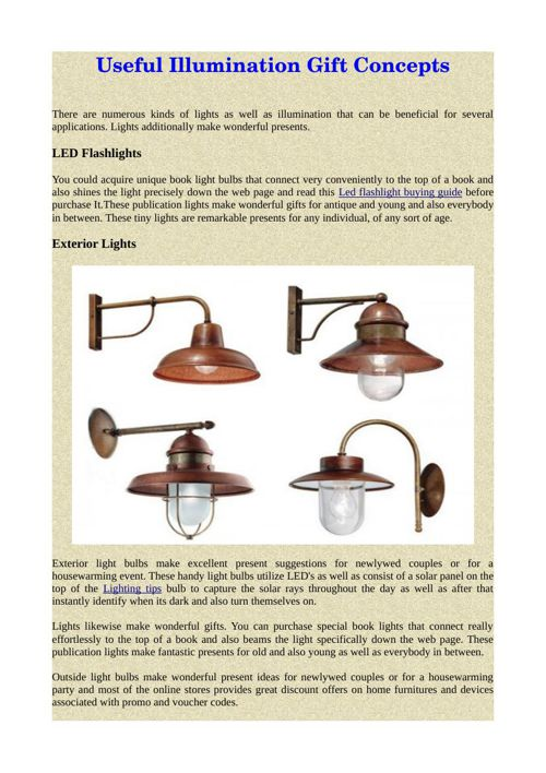 Useful Illumination Gift Concepts