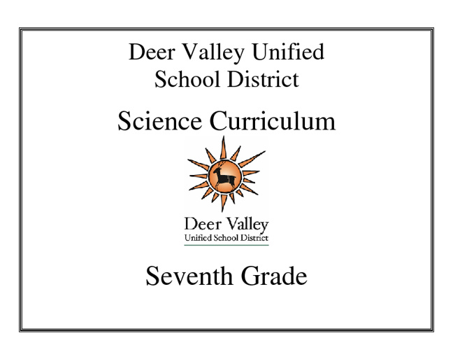 Revised Science Curriculum