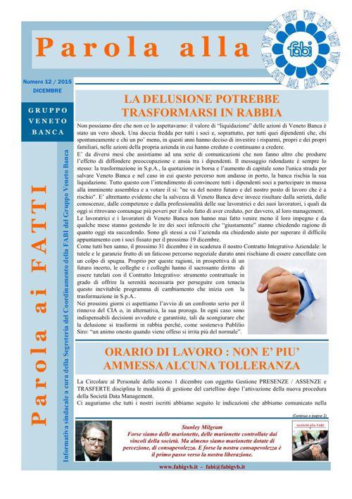 60 - Parola alla FABI - Dicembre 2015