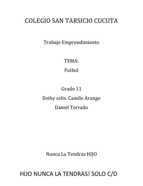 COLEGIO SAN TARSICIO CUCUTA
