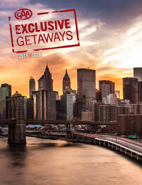 CAA Exclusive Getaways 2015
