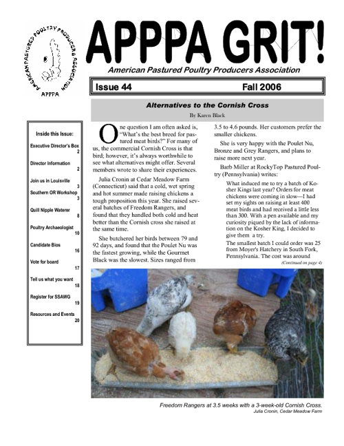 APPPA Grit, Issue 44, Fall 2006