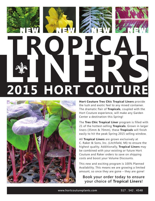 2015 Hort Couture Tropicals