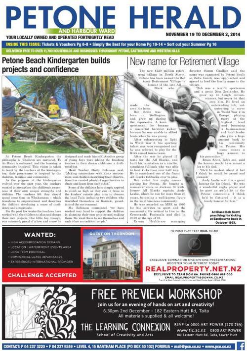 Petone Herald 19 November 2014