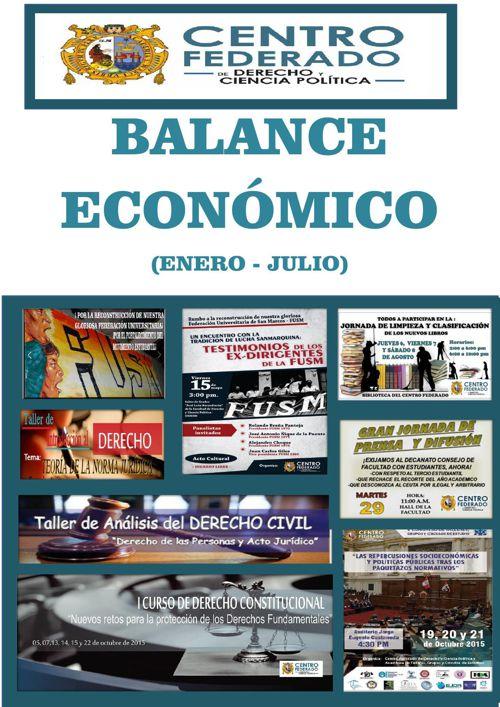 BALANCE ECONÓMICO(ENERO- JULIO)
