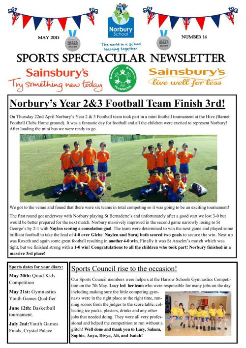 Sports Newsletter Number 14