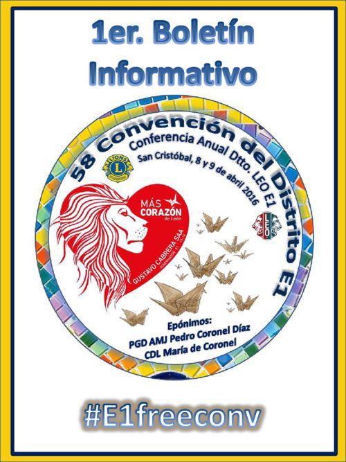 1er Boletin 58 Convención Distrito E1