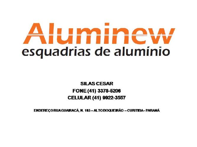Catalogo de Produtos - ALUMINEW