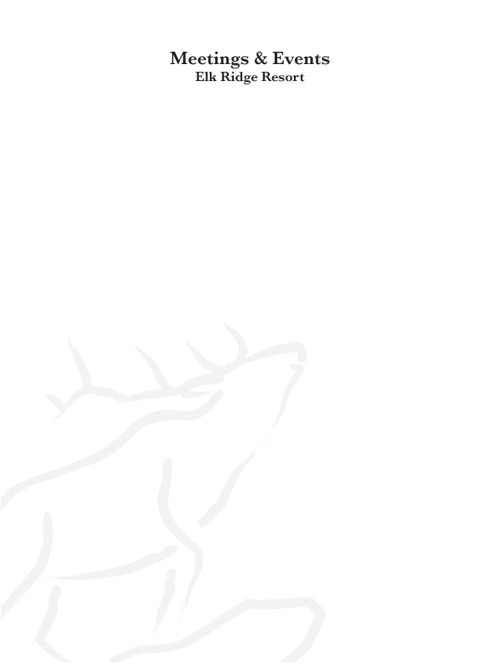 Elk Ridge Meetings & Events Guide