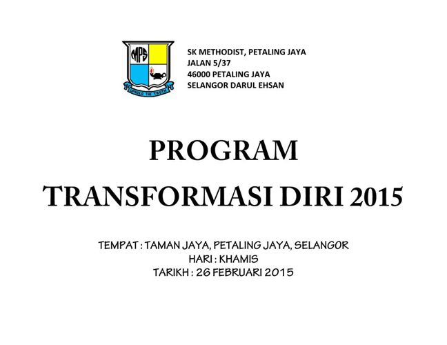 Copy of PROGRAM TRANSFORMASI DIRI 2015