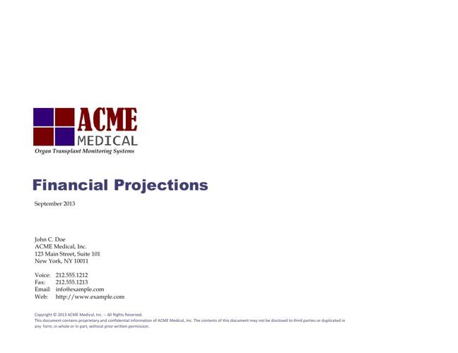 ACME Financial Forecast