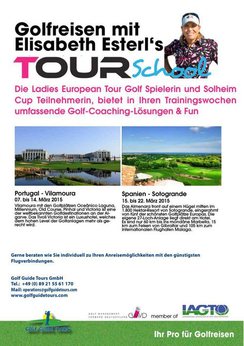 Mappe Golfreisen Lisl Esterl Tivoli & Almenara