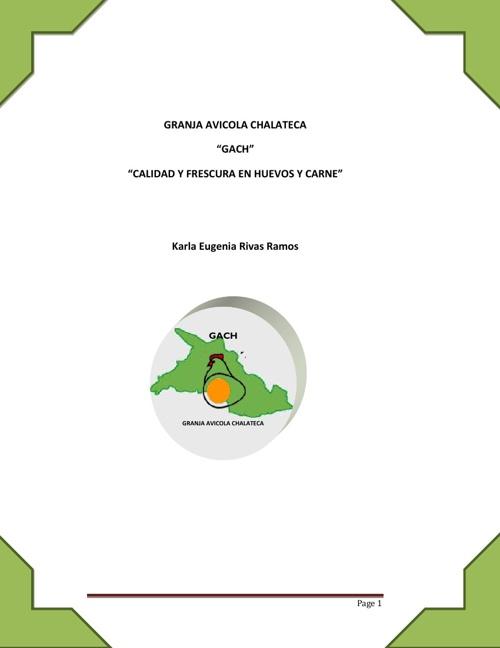 Granja Avicola Chalateca ( plan de negocio )