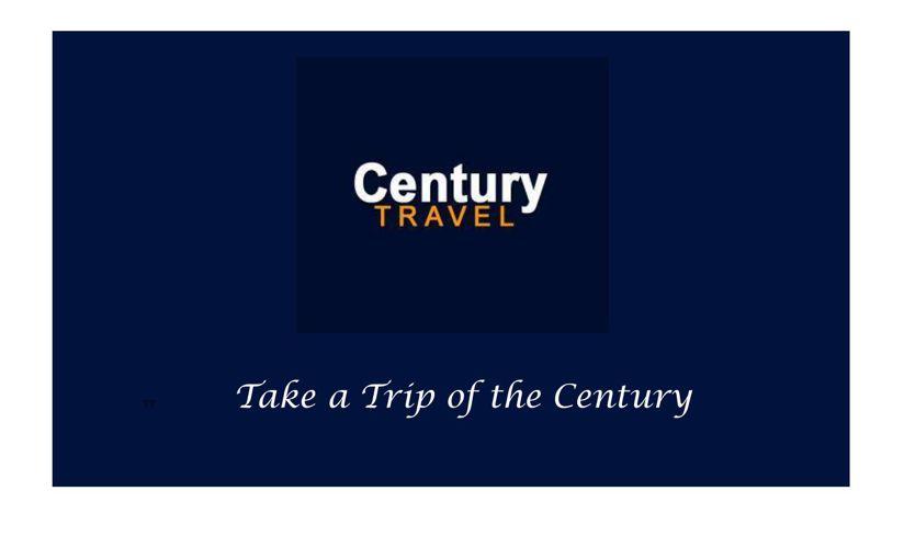 century travel brochure