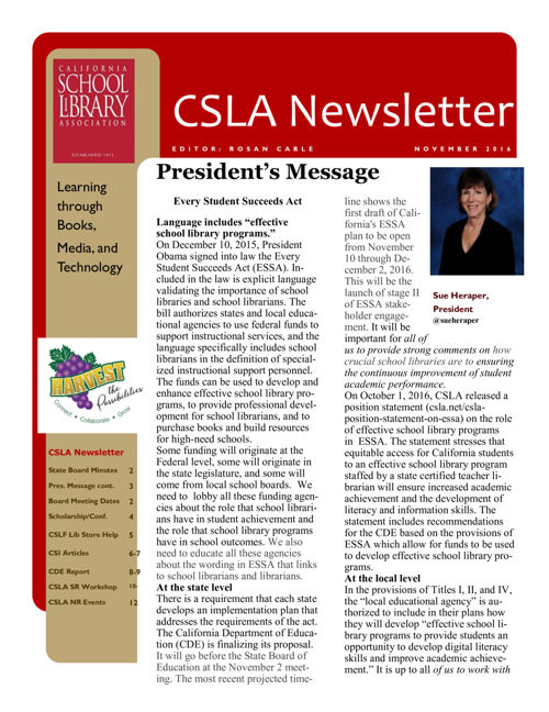 2016_11_Nov_CSLA Newsletter