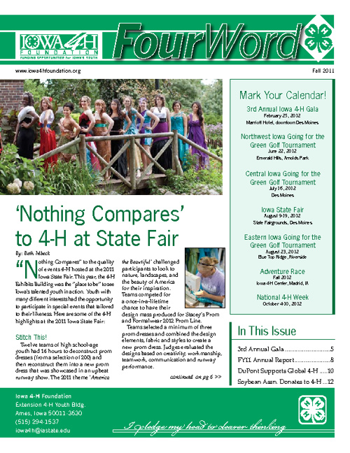 Iowa 4-H Foundation Newsletters
