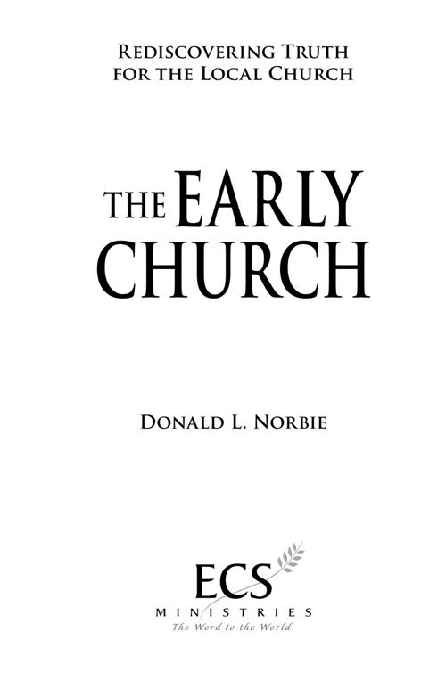 The Early Church PDF