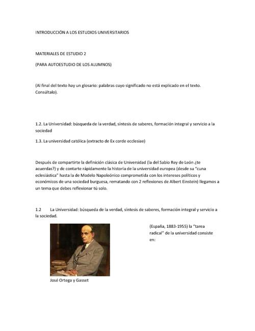 INTRODUCCION A LOS ESTUDIOS UNIVERSITARIOS 1