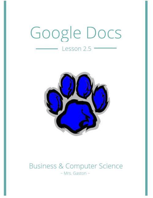 Google Docs Lesson 2.5