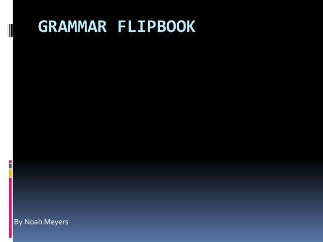 Grammar Flipbook