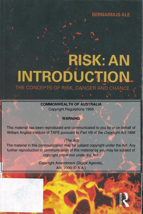 What is risk - Chapter one - Introduction