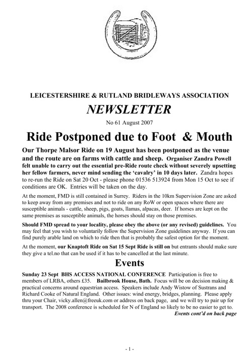 2007 Newsletters Pt2
