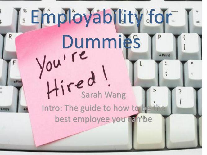 Employability for Dummies