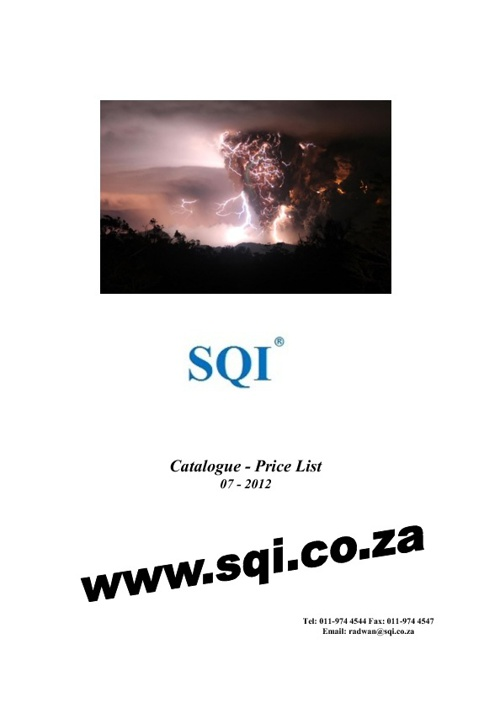 SQI, October 2012 Catalogue - Price-List