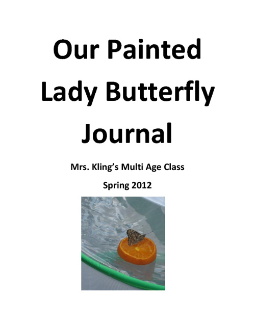 Our Painted Lady Butterfly Journal