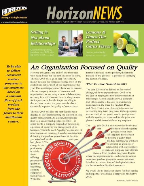 Horizon Newsletter 16