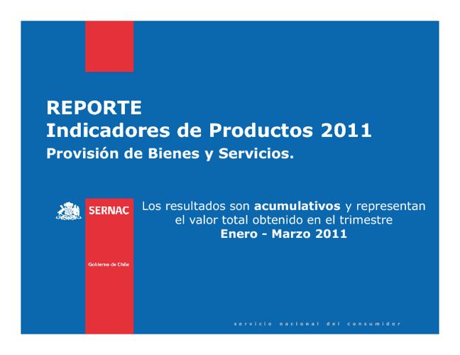 Reporte Indicadores IP Enero - Marzo 2011