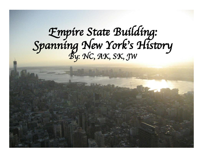 Empire State Building: Spanning New York's History