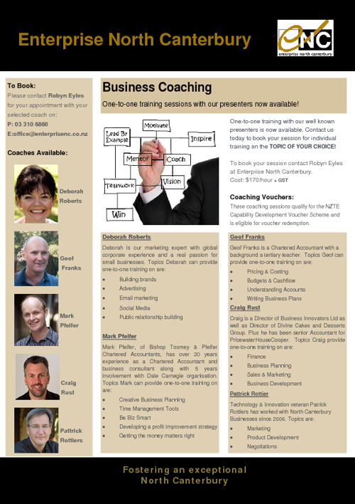 One-to-one training for Business Coaching