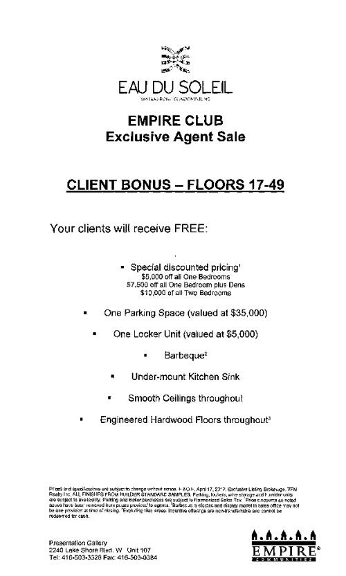 Eau - Client Bonus