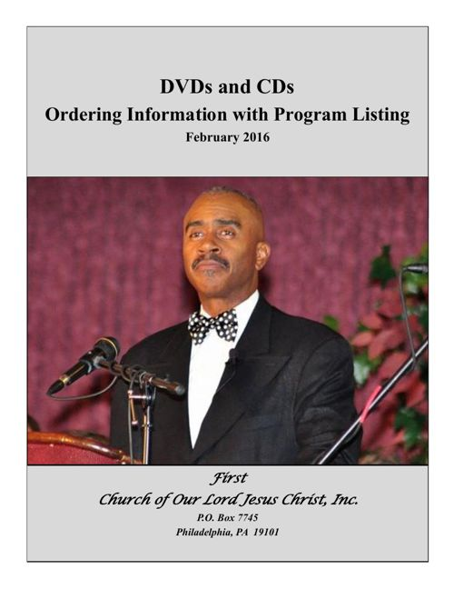 Studio Ordering & Program Listing Feb 2016