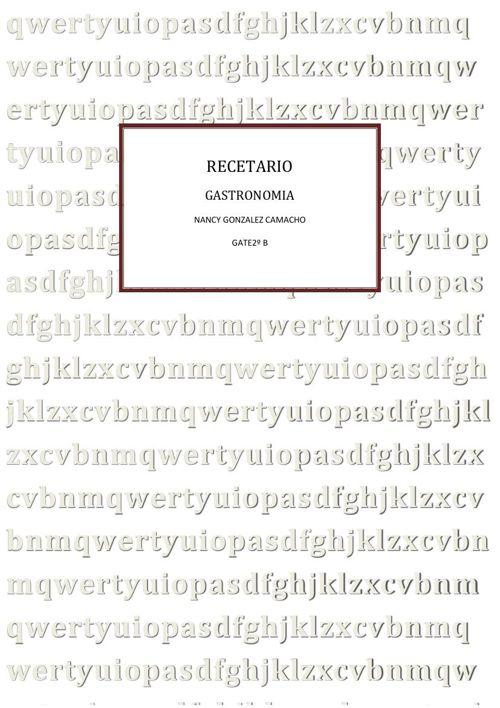RECETARIO2ªUNIDAD NANCY 2ºB