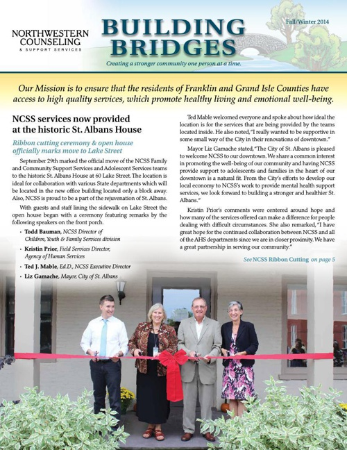 NCSS Newsletter Building Bridges - Fall/Winter 2014