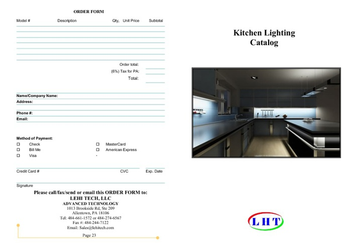 Kitchen Lighting Catalog