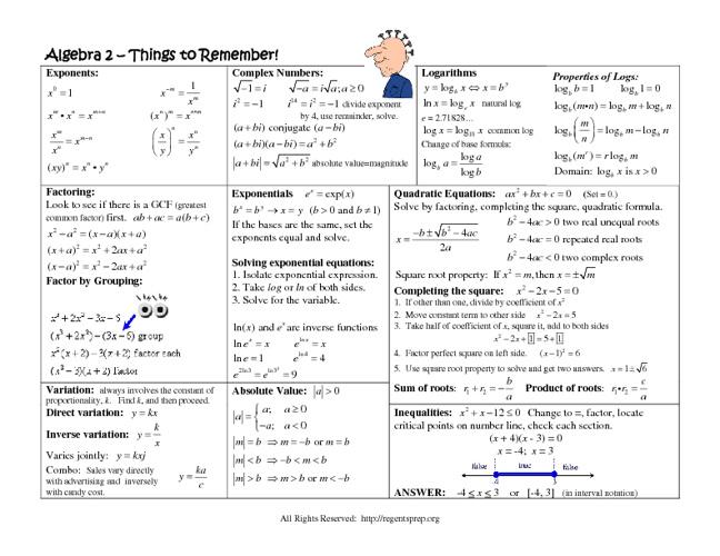 Algebra 2 / Trig Review