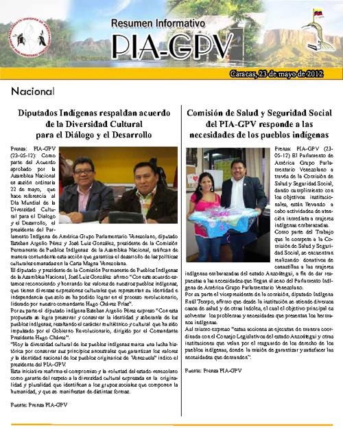 Resumen Informativo 23 de Mayo 2012