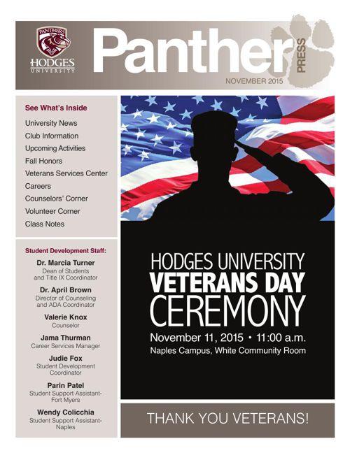 November 2015 Panther Press