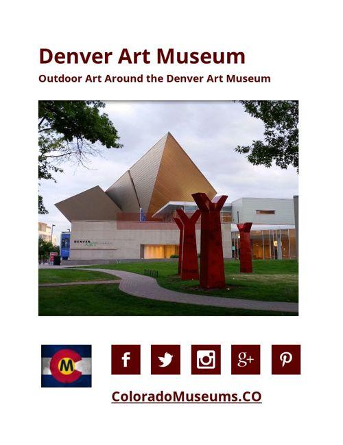 Outdoor Art Around the Denver Art Museum